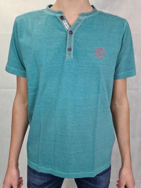 T-Shirt Lerros aqua Fineliner Serafino