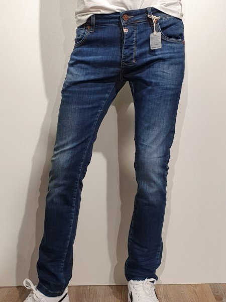 Jeans Timezone Scott sea blue aged wash