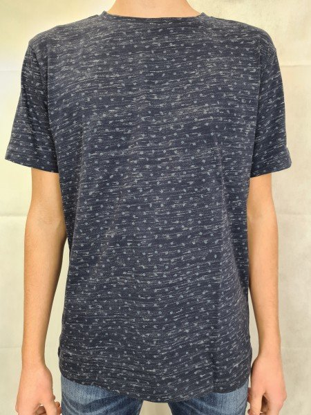"T-Shirt Lerros marineblau ""Allover-Print"""
