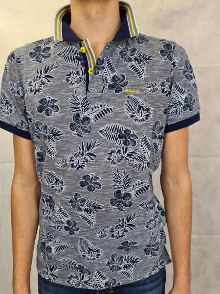 Polo Shirt NZA Heron blau