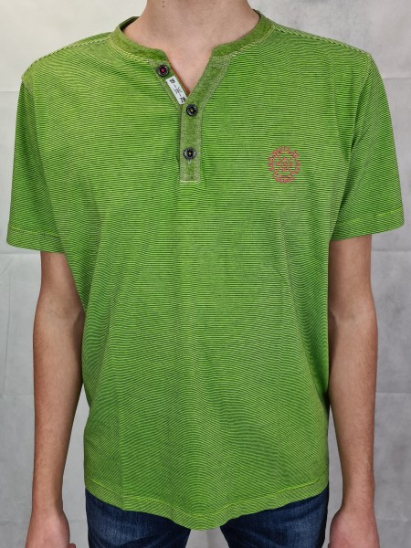 T-Shirt Lerros grün Fineliner Serafino