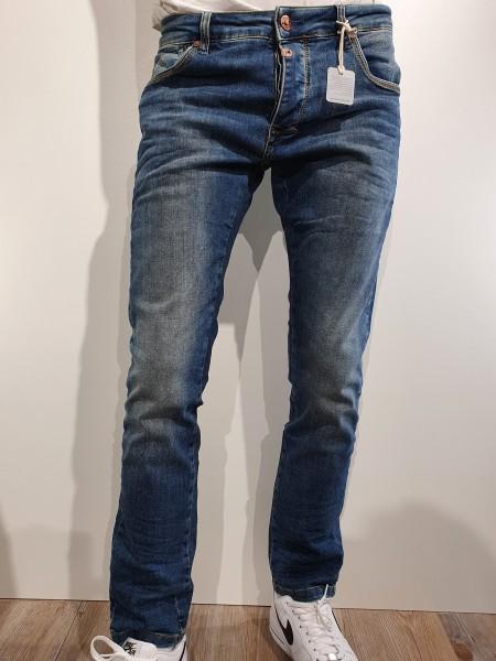 Jeans Timezone Scott blue scrub wash