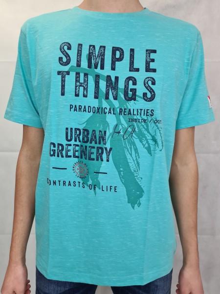 "T-Shirt Lerros aqua Frontdruck ""Simple Things"""